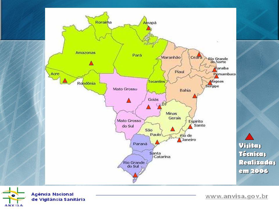 Previstas para 2006, porém não-realizadas Minas Gerais (Uberaba Minas Gerais (Uberaba e Uberlândia) Paraná Paraná São Paulo (Campinas, São Paulo (Campinas, São Paulo e Catanduva) São Paulo e Catanduva) Pará Pará Roraima Roraima Maranhão Maranhão Rio Grande do Norte Rio Grande do Norte Rondônia Rondônia
