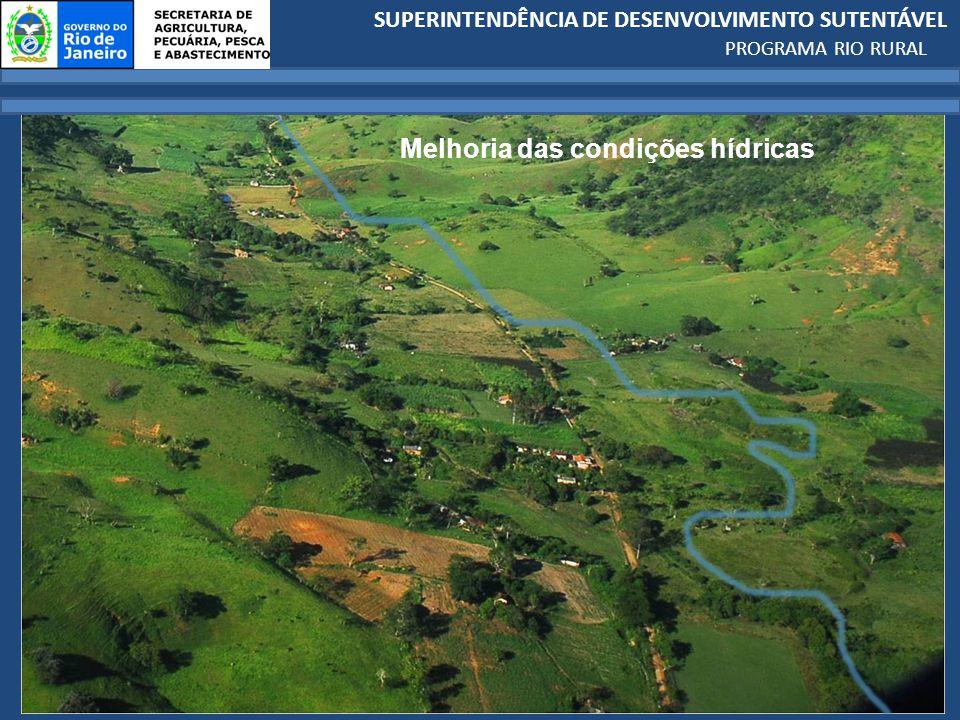 SUPERINTENDÊNCIA DE DESENVOLVIMENTO SUTENTÁVEL PROGRAMA RIO RURAL Melhoria das condições hídricas
