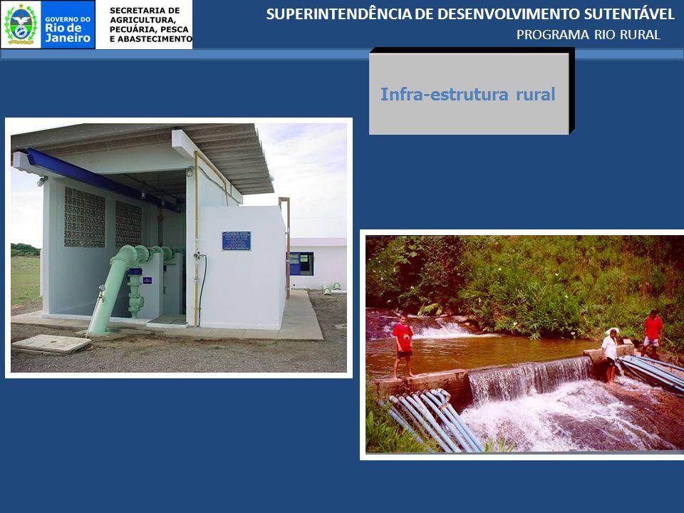 SUPERINTENDÊNCIA DE DESENVOLVIMENTO SUTENTÁVEL PROGRAMA RIO RURAL Infra-estrutura rural