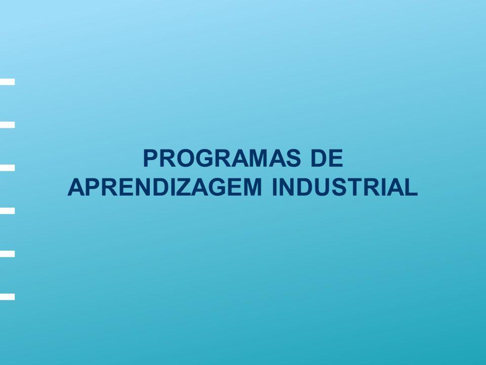 PROGRAMAS DE APRENDIZAGEM INDUSTRIAL