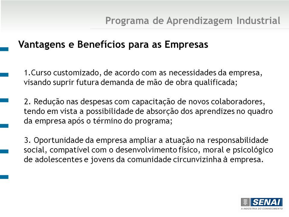 1.Curso customizado, de acordo com as necessidades da empresa, visando suprir futura demanda de mão de obra qualificada; 2.