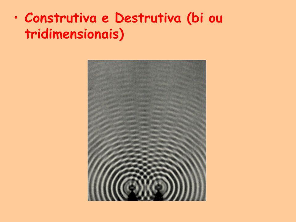Construtiva e Destrutiva (bi ou tridimensionais)