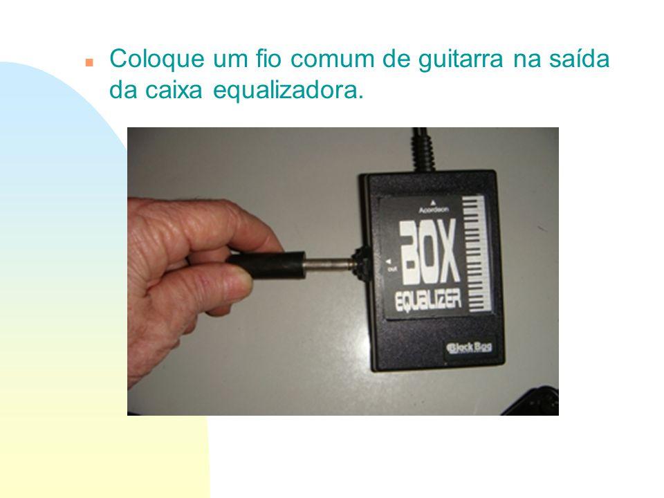 n Coloque um fio comum de guitarra na saída da caixa equalizadora.