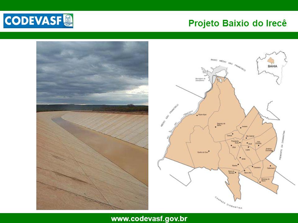37 www.codevasf.gov.br Projeto Baixio do Irecê