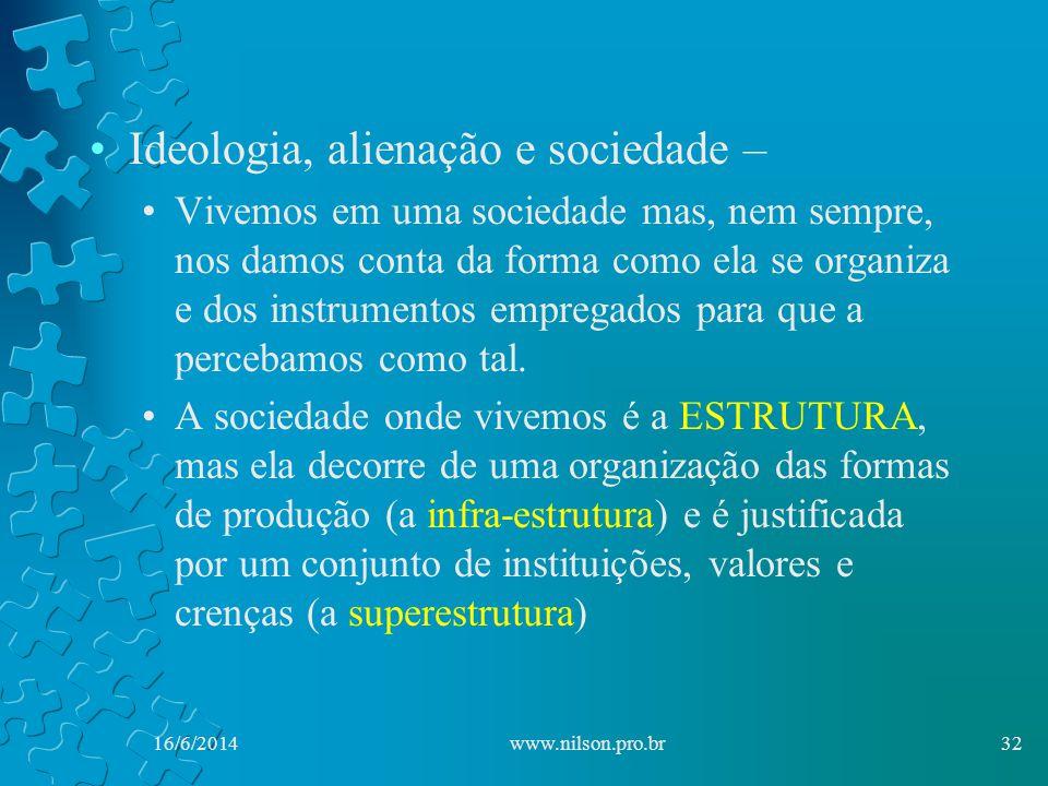 Ideologia, alienação e sociedade – Vivemos em uma sociedade mas, nem sempre, nos damos conta da forma como ela se organiza e dos instrumentos empregados para que a percebamos como tal.