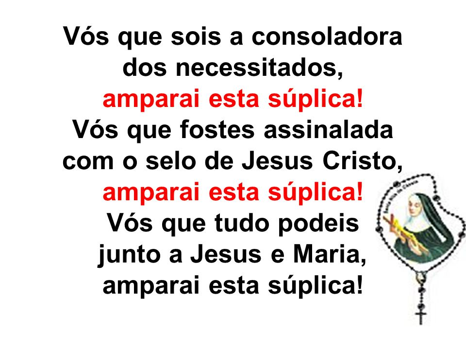 Cordeiro de Deus, que tirais os pecados do mundo, perdoai-nos Senhor.