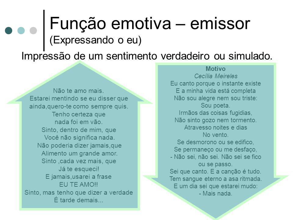 Função Apelativa – receptor (O imperativismo) Eminentemente persuasória.