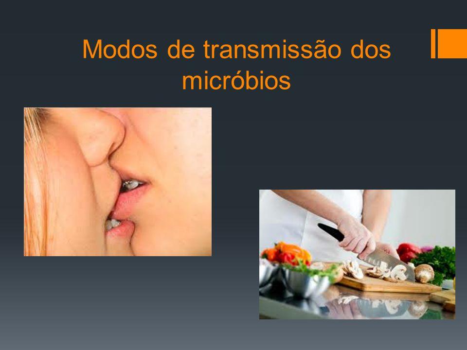 A transmissão dos micróbios patogénicos pode ser feita por contacto direto ou por transmissão indireta.