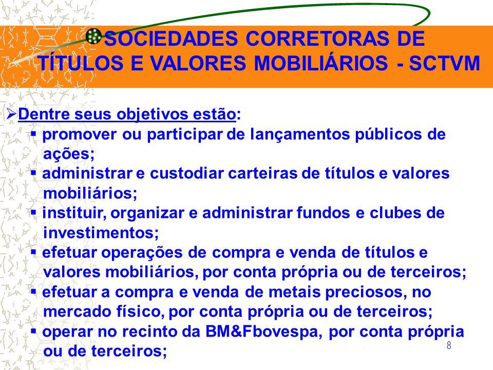 19 MERCADO DE CAPITAIS COMISSÃO DE VALORES MOBILIÁRIOS – CVM OBJETIVOS: continuação 5.