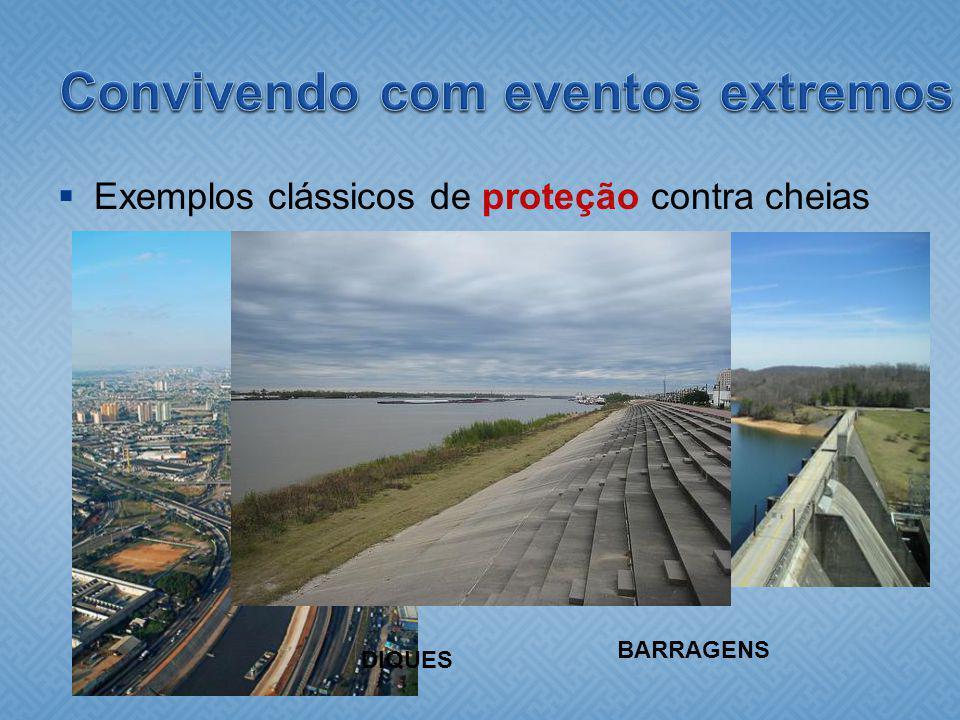 Exemplos clássicos de proteção contra cheias BARRAGENS CANALIZAÇÃO DIQUES