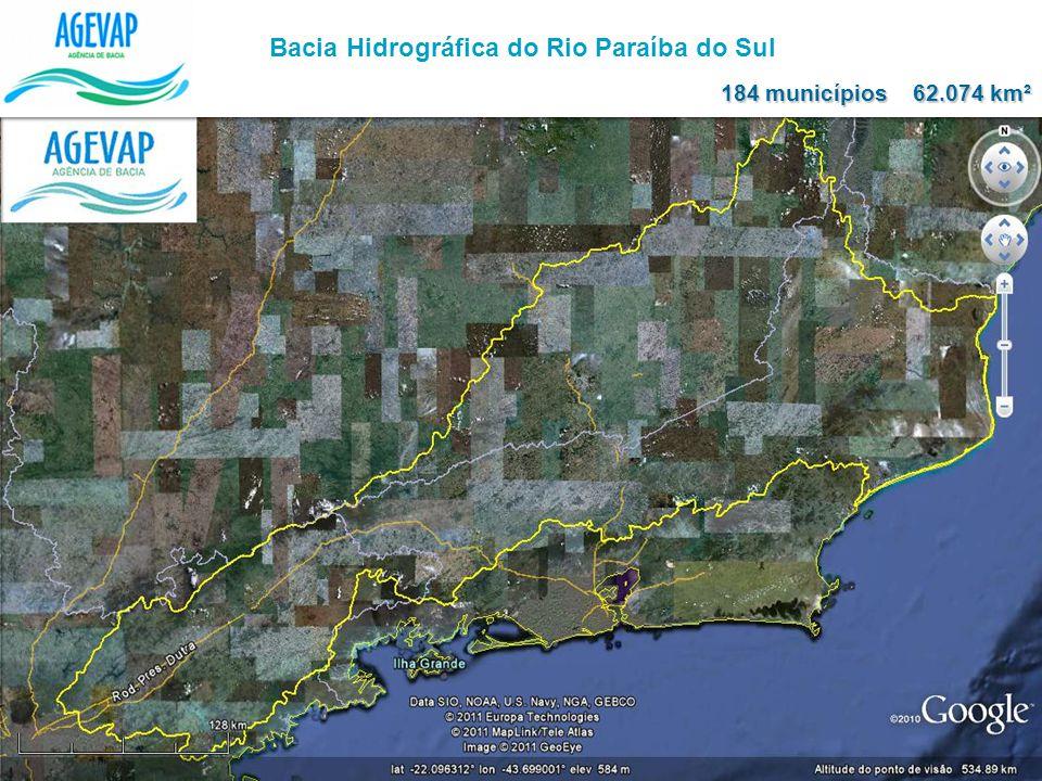 Bacia Hidrográfica do Rio Paraíba do Sul 62.074 km² 184 municípios