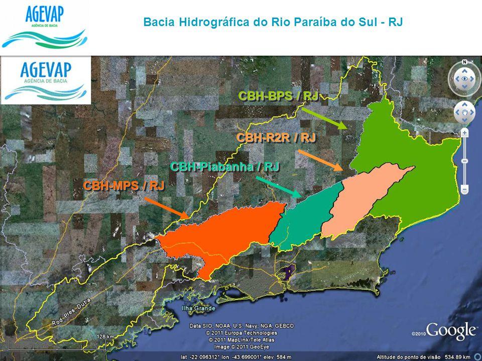 Bacia Hidrográfica do Rio Paraíba do Sul - RJ CBH-BPS / RJ CBH-R2R / RJ CBH-MPS / RJ CBH-Piabanha / RJ