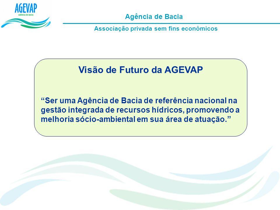 Visão de Futuro da AGEVAP Ser uma Agência de Bacia de referência nacional na gestão integrada de recursos hídricos, promovendo a melhoria sócio-ambien