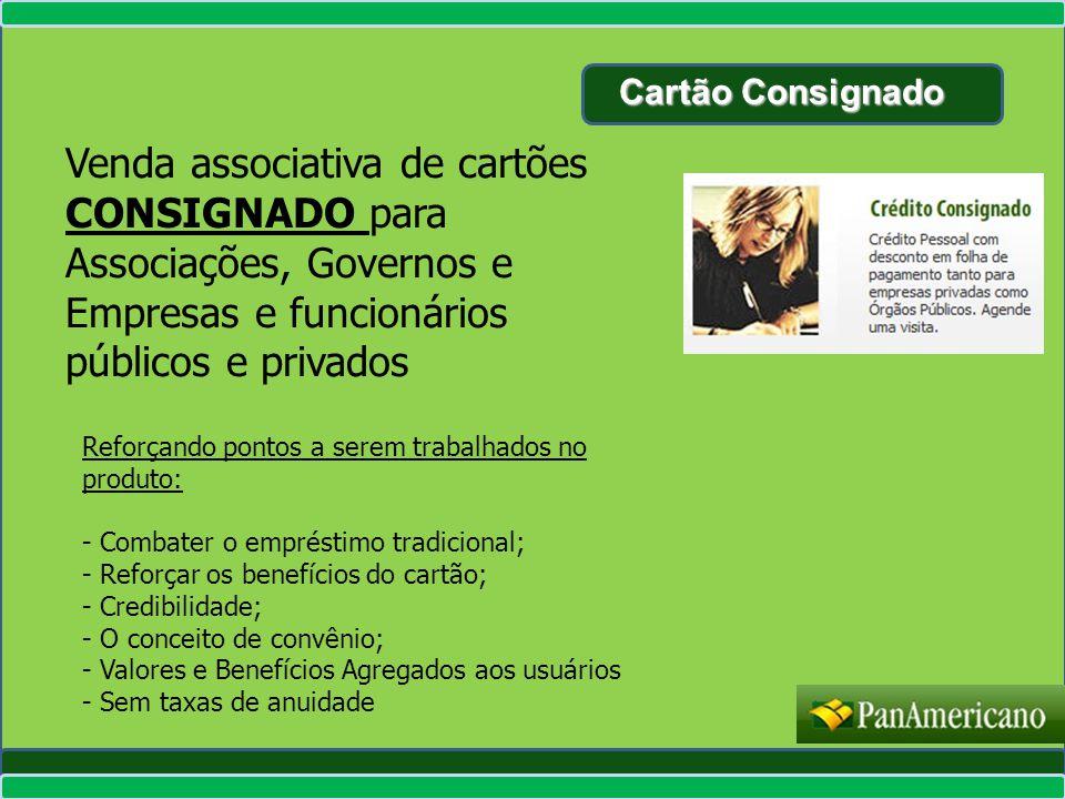 Cartão Consignado Venda associativa de cartões CONSIGNADO para Associações, Governos e Empresas e funcionários públicos e privados Reforçando pontos a