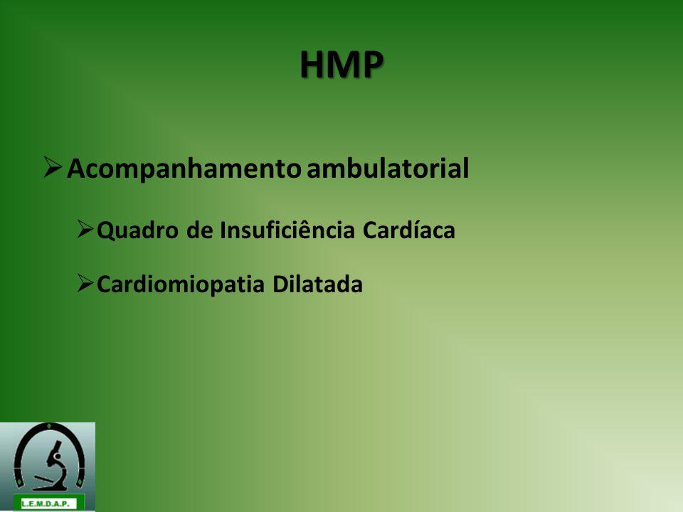 HMP Acompanhamento ambulatorial Quadro de Insuficiência Cardíaca Cardiomiopatia Dilatada
