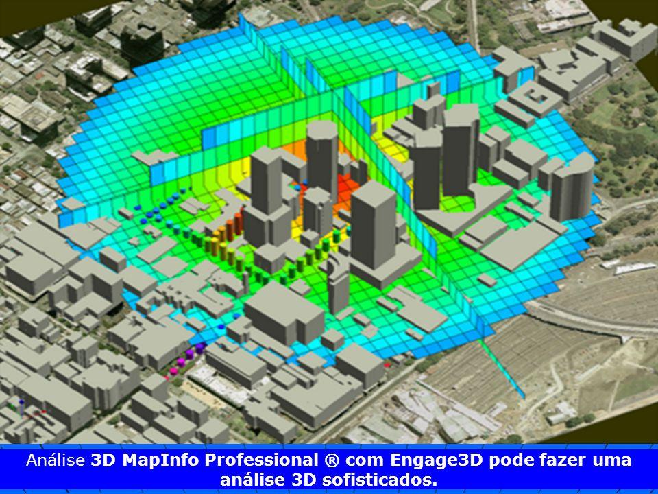 Análise 3D MapInfo Professional ® com Engage3D pode fazer uma análise 3D sofisticados.