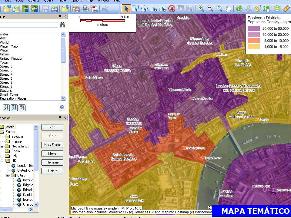 O MapInfo Professional, devido às suas características peculiares, apresenta uma estrutura de funcionamento composta por várias aplicações, geridas por um motor comum.