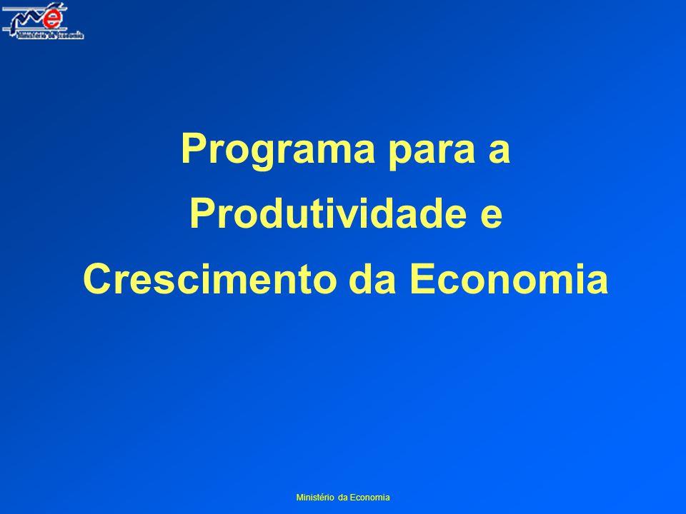 Ministério da Economia Programa para a Produtividade e Crescimento da Economia