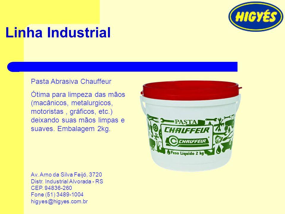 Linha Industrial Pasta Abrasiva Chauffeur Ótima para limpeza das mãos (macânicos, metalurgicos, motoristas, gráficos, etc.) deixando suas mãos limpas