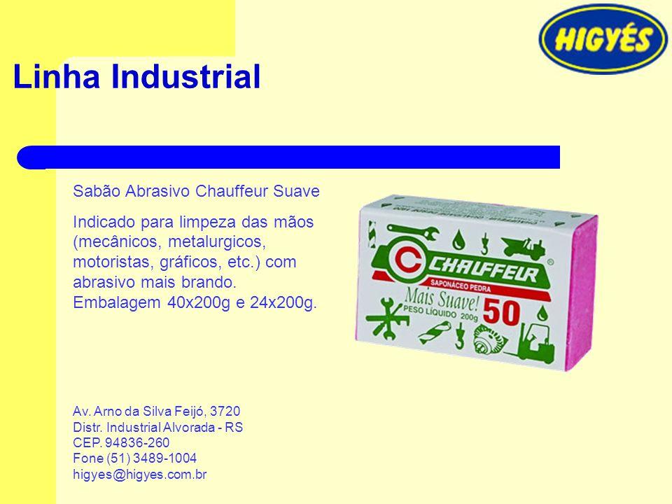Linha Industrial Sabão Abrasivo Chauffeur Suave Indicado para limpeza das mãos (mecânicos, metalurgicos, motoristas, gráficos, etc.) com abrasivo mais
