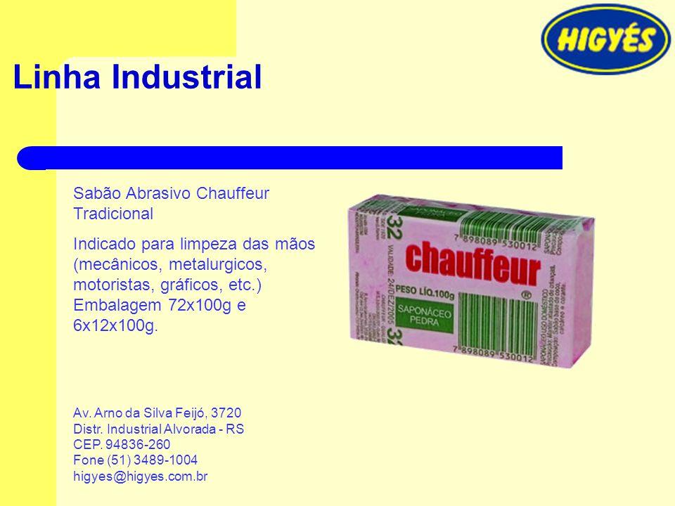 Linha Industrial Sabão Abrasivo Chauffeur Tradicional Indicado para limpeza das mãos (mecânicos, metalurgicos, motoristas, gráficos, etc.) Embalagem 7