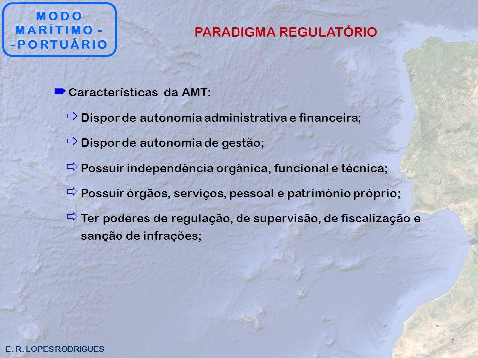 E. R. LOPES RODRIGUES Características da AMT: Dispor de autonomia administrativa e financeira; Dispor de autonomia de gestão; Possuir independência or