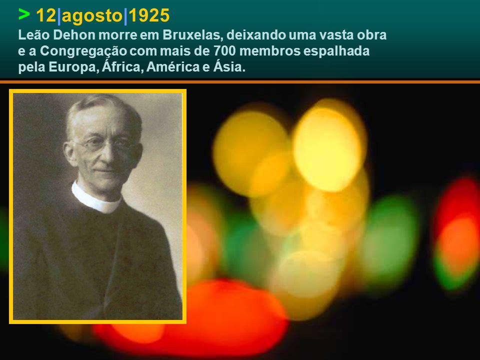 > 5|dezembro|1923 A Santa Sé aprova definitivamente a Congregação dos Sacerdotes do Coração de Jesus.