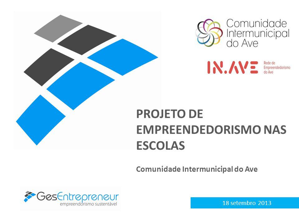 18 setembro 2013 PROJETO DE EMPREENDEDORISMO NAS ESCOLAS Comunidade Intermunicipal do Ave