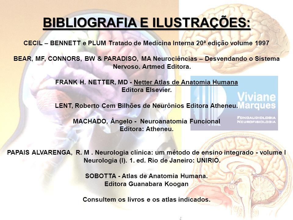 BIBLIOGRAFIA E ILUSTRAÇÕES: CECIL – BENNETT e PLUM Tratado de Medicina Interna 20ª edição volume 1997 BEAR, MF, CONNORS, BW & PARADISO, MA Neurociênci