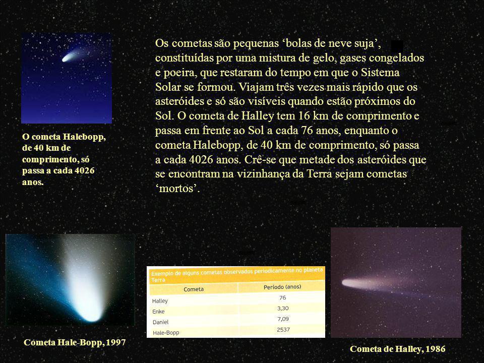A grande maioria dos cometas provém de uma região do espaço para além da órbita de Neptuno, que é muitas vezes designada por Cintura de Kuiperou Cintu