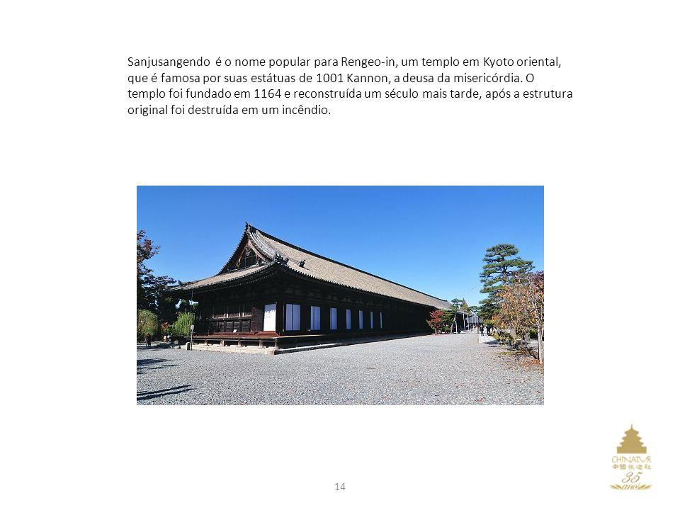 Sanjusangendo é o nome popular para Rengeo-in, um templo em Kyoto oriental, que é famosa por suas estátuas de 1001 Kannon, a deusa da misericórdia.