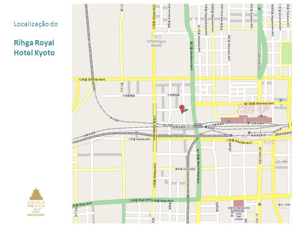 Localização do Rihga Royal Hotel Kyoto 2