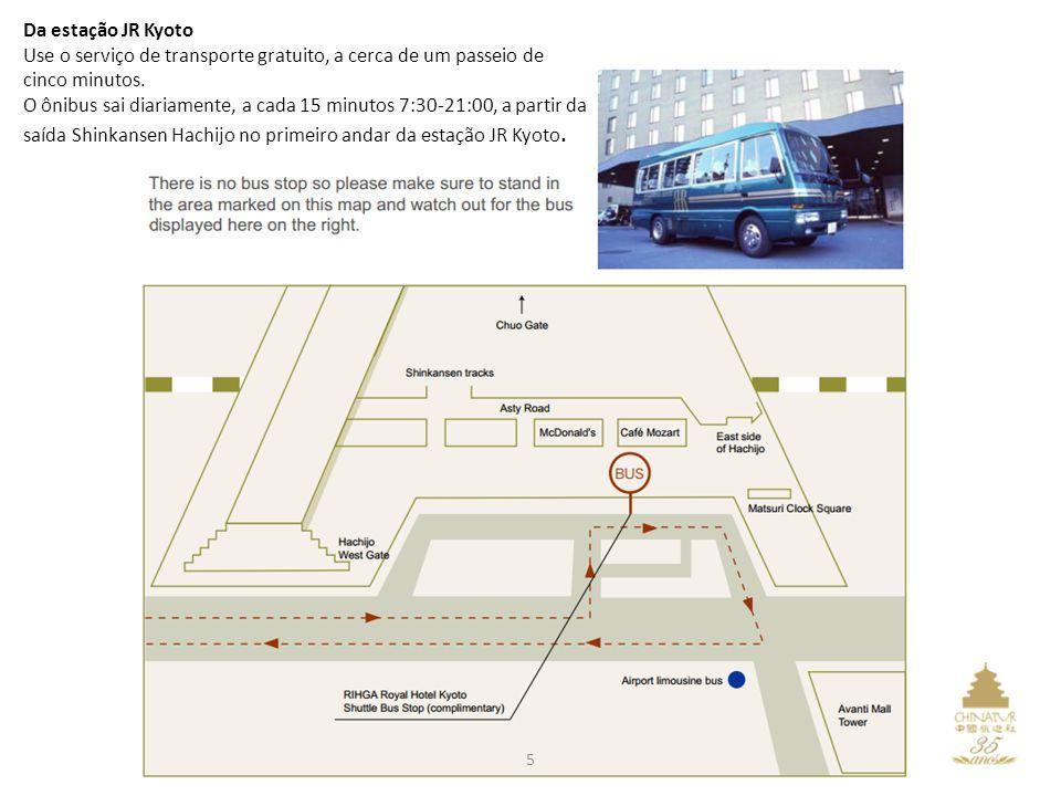 Da estação JR Kyoto Use o serviço de transporte gratuito, a cerca de um passeio de cinco minutos.