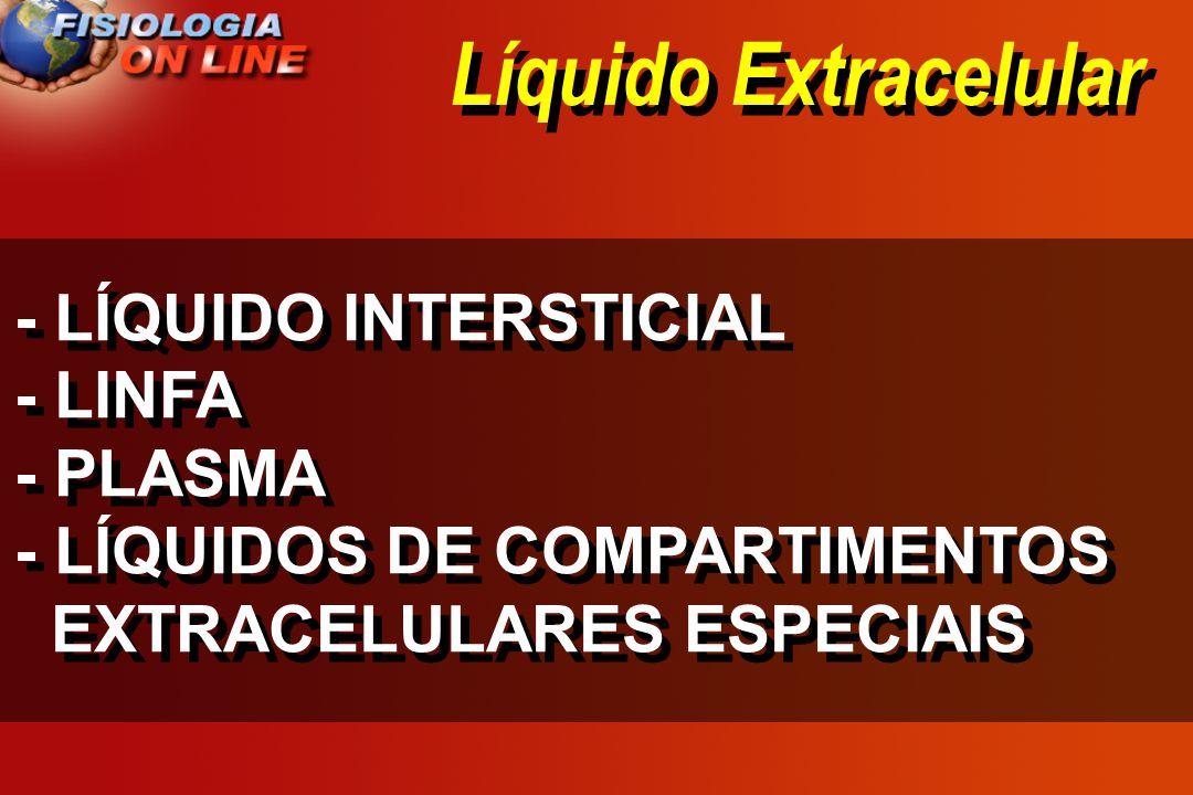 Líquido Extracelular - LÍQUIDO INTERSTICIAL - LINFA - PLASMA - LÍQUIDOS DE COMPARTIMENTOS EXTRACELULARES ESPECIAIS - LÍQUIDO INTERSTICIAL - LINFA - PL