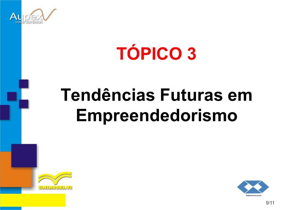 TÓPICO 3 Tendências Futuras em Empreendedorismo 9/11