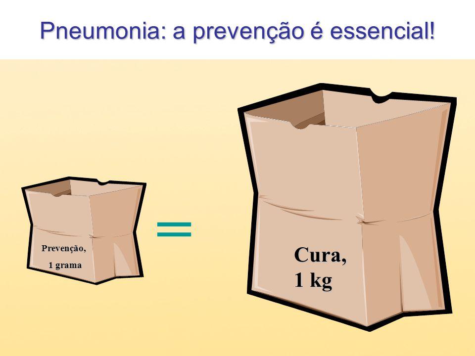 Pneumonia: a prevenção é essencial! Prevenção, 1 grama 1 grama = Cura, 1 kg