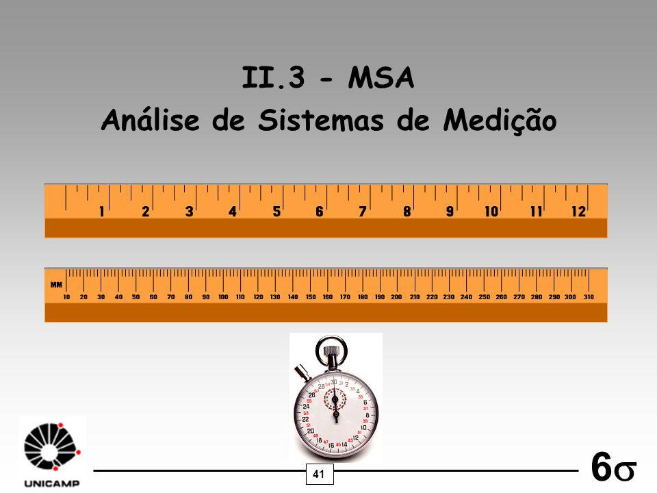 41 6 II.3 - MSA Análise de Sistemas de Medição