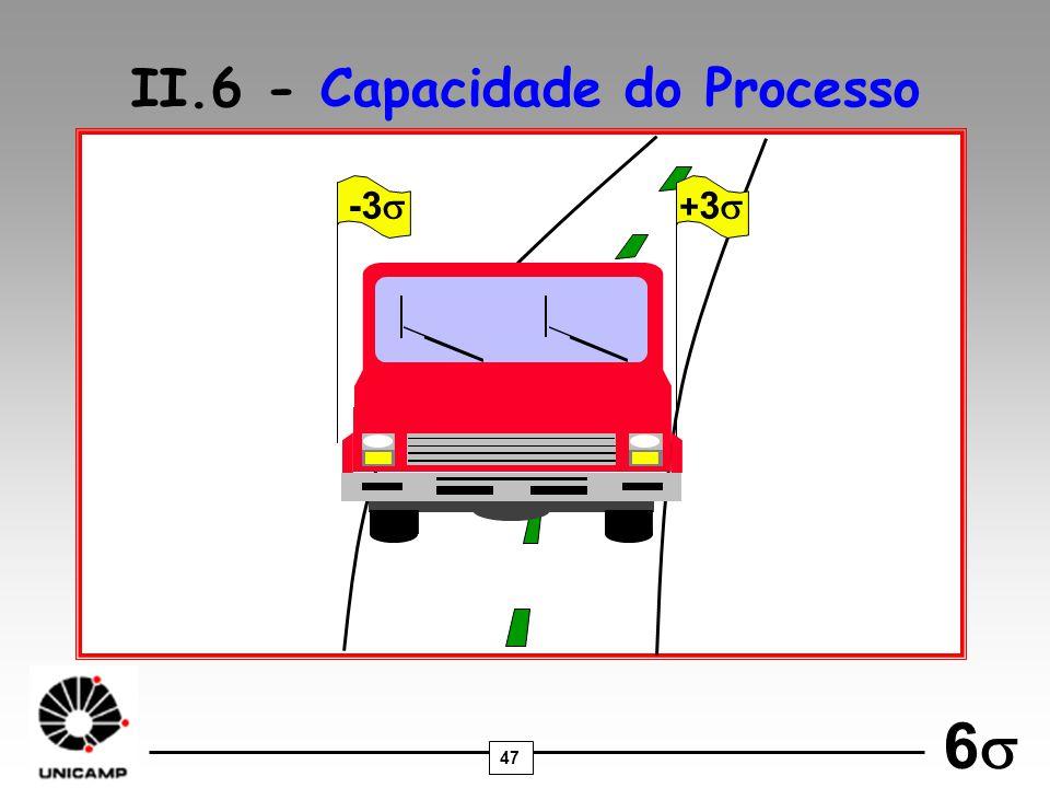 47 6 -3 II.6 - Capacidade do Processo + 3