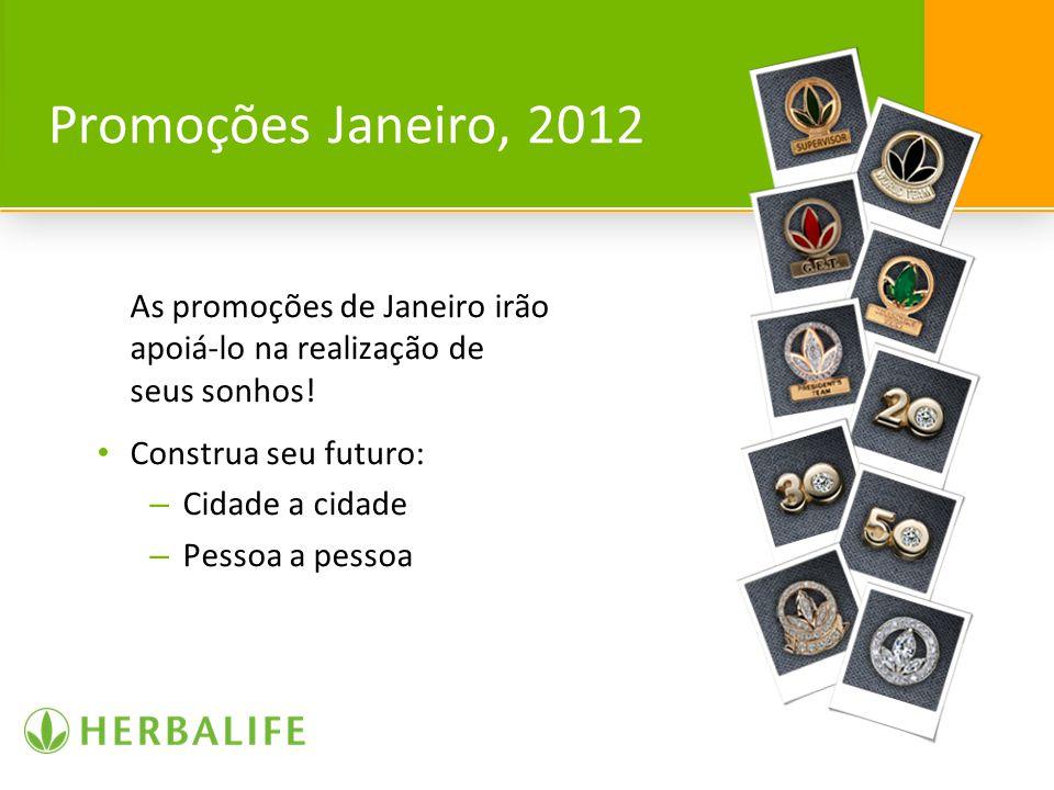 Promoções Janeiro, 2012 As promoções de Janeiro irão apoiá-lo na realização de seus sonhos! Construa seu futuro: – Cidade a cidade – Pessoa a pessoa