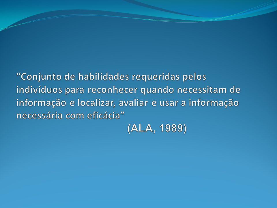 Literacia da Informação Actualmente, não basta saber ler ou escrever.