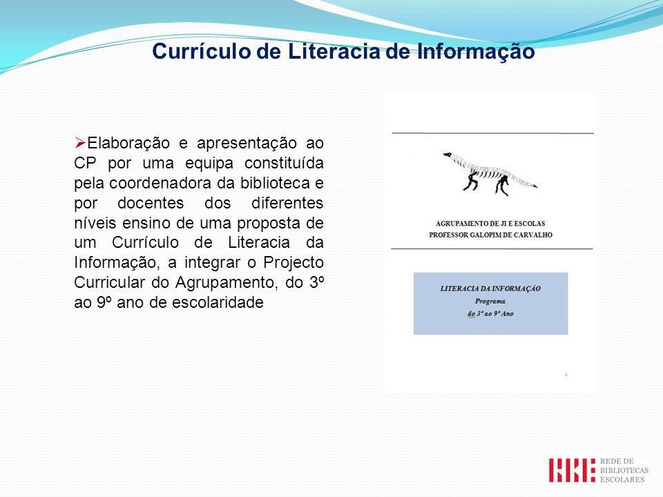 Elaboração e apresentação ao CP por uma equipa constituída pela coordenadora da biblioteca e por docentes dos diferentes níveis ensino de uma proposta