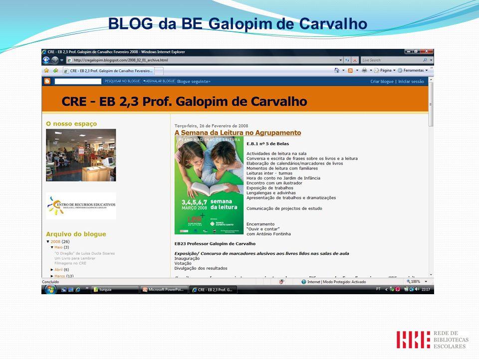 BLOG da BE Galopim de Carvalho
