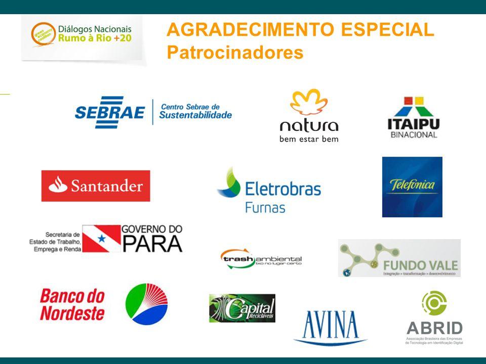 AGRADECIMENTO ESPECIAL Patrocinadores