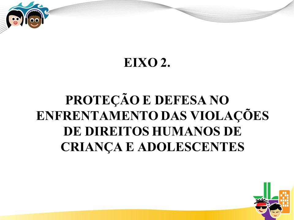 EIXO 2. PROTEÇÃO E DEFESA NO ENFRENTAMENTO DAS VIOLAÇÕES DE DIREITOS HUMANOS DE CRIANÇA E ADOLESCENTES