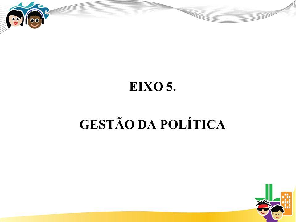 EIXO 5. GESTÃO DA POLÍTICA