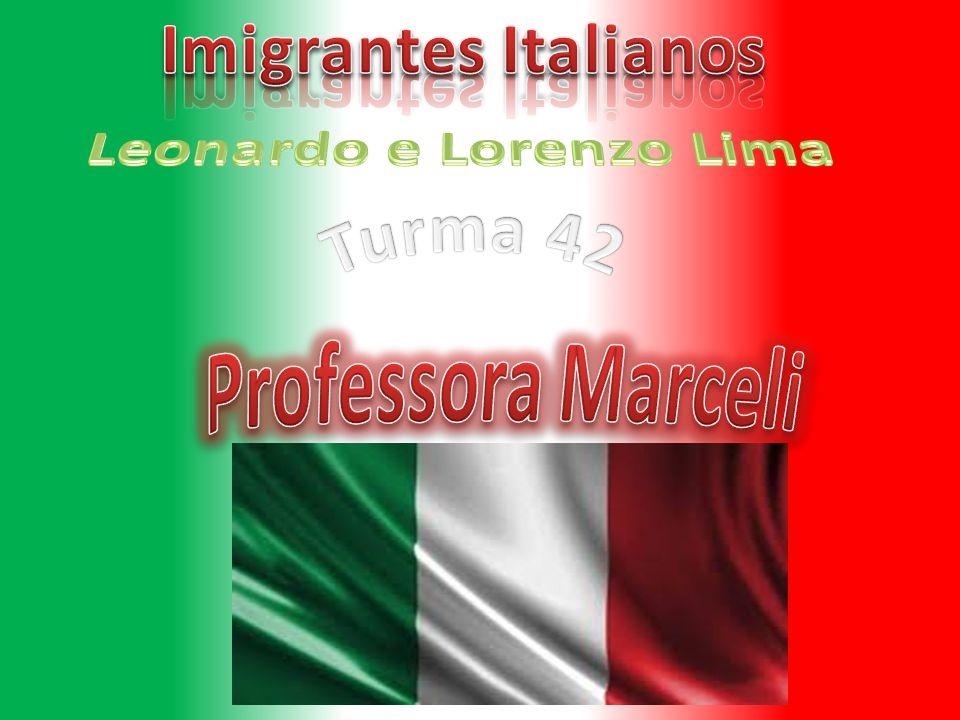 Os imigrantes italianos começam a chegar em 1875.De barco e de canoa.