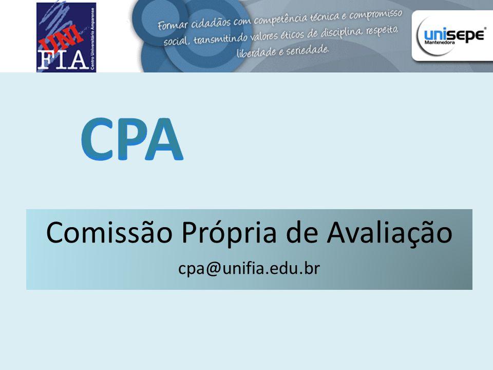 Comissão Própria de Avaliação cpa@unifia.edu.br