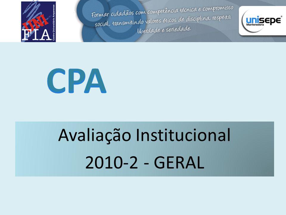 Avaliação Institucional 2010-2 - GERAL