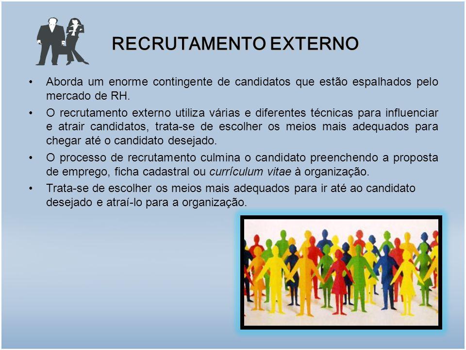 Aborda um enorme contingente de candidatos que estão espalhados pelo mercado de RH.