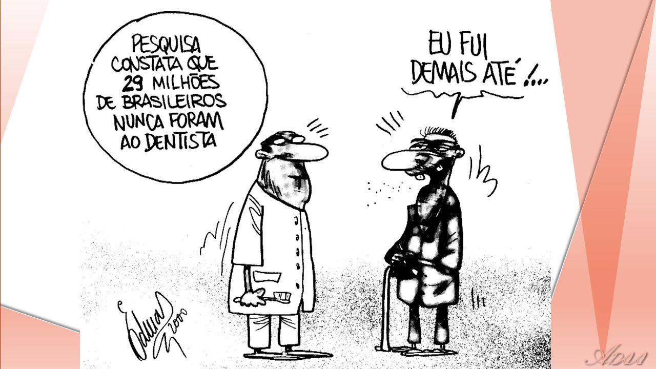 Médias de CPO-D aos 12 anos no Brasil em 2003 de acordo com macrorregião Ministério da Saúde, 2003 Fonte: Roncalli, 2004 0,0 0,5 1,0 1,5 2,0 2,5 3,0 3,5 Norte Nordeste SudesteSulCentro- Oeste BRASIL Perdido Obturado Obt/Cariado Cariado 2,78 3,16 2,31 2,30 3,19 3,13